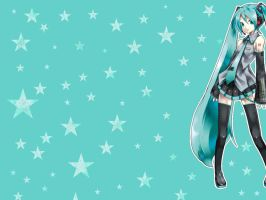 Hatsune Miku Wall by blankc