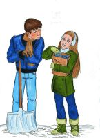 Frank Hardy and Nancy Drew by littledinosaurarms