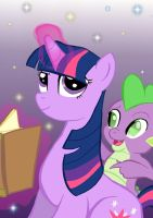 Twilight Sparkle: Element of Magic... And Spike by JacobDobson