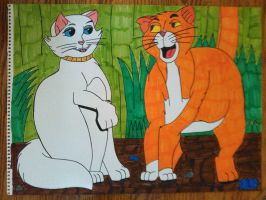 Duchess and Thomas O' Malley Cat by Forceuser77