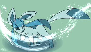 Glaceon Used Blizzard by nauticaldog