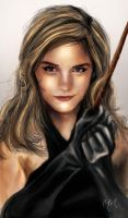 Hermione Portrait by Obsidianwatcher
