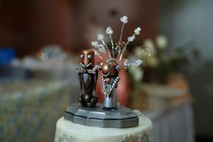 Steampunk Wedding Cake Topper by gerald-the-mouse3