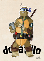 COLLAB - Donatello by happymonkeyshoes