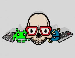 Nerdy Skull by KennethBotsfordJr