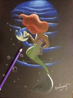 The dancing mermaid by AmadeuxWay