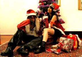 Squall and Rinoa Christmas version by Eyes-0n-Me