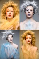 Opposites: flame-frost four by jakegarn