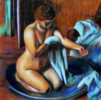 Woman in a tub by casspike