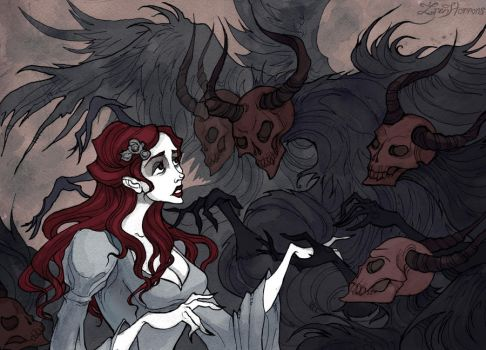 Give Yourself to the Darkness by IrenHorrors