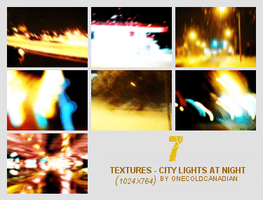 Textures - City Lights Night by onecoldcanadian