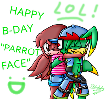 LATE gift to my fav parrot xDD by ChibySoly