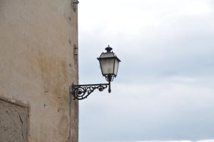 Old wall lantern by Very-Free-Stock