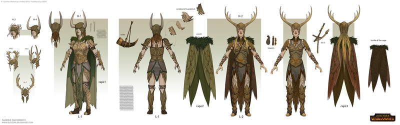 Total War: Warhammer Concept Art - Gladelords by telthona