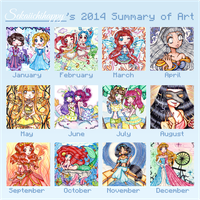 Sekaiichihappy's 2014 Summary of Art by sekaiichihappy