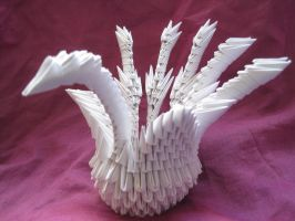 3D Origami Peacock 1 by iDoux