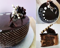 Triple Chocolate Ripple Joconde by cakecrumbs