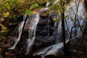 Roadside waterfall by CouchyCreature