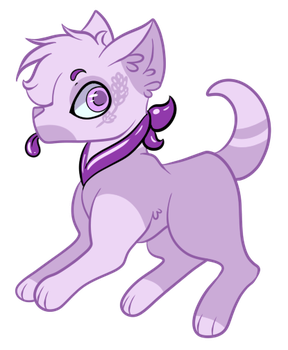 Lavender Pup by Firiju-Fabulous