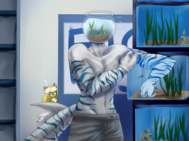 Max At The Petstore by NebulaFelid