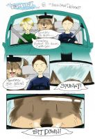 In Which We Take a Car Ride by snailbird