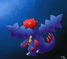 Druddigon Paint by ieaka