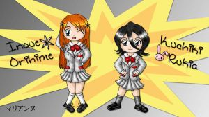 Girlies of Bleach Chibi Style by lilpurpleperson