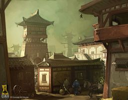 Feudal Scene by Concept-Art-House