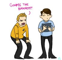 Star Trek: GIMME THE BRANDY by Fuqspace