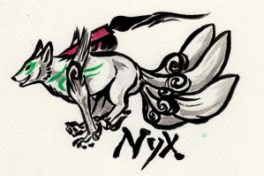 Okami badge Nyx by Kitsune-Nyx