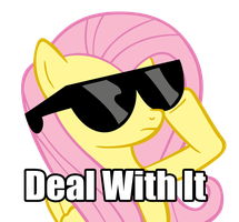 Deal With It....Flutter Style by J-Brony
