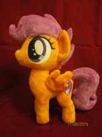 My first official comission, Scootaloo with CM by LilDragonEyz