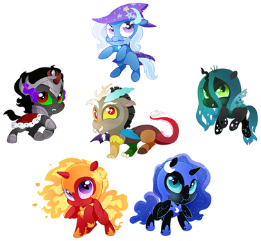 Very Small Big Baddies by HoofBeatDriven