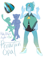 FT - (Pearl/Holly Blue) Peruvian Opal by TheZodiacLord