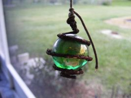Rusty Spiral and Green glass by elf-fu-stock