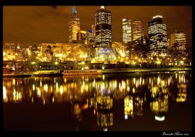 Night: Fed Square Across Yarra by DanielleMiner