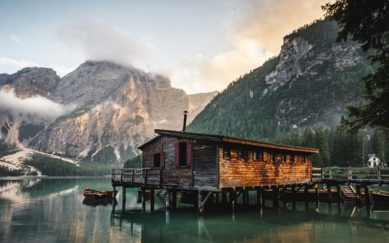 Cabin on a Lake by stocky-pix