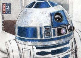 Star Wars G7 - R2-D2 Sketch Art Card by DenaeFrazierStudios