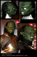 orc latex mask by Monstermann