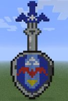 Minecraft - Sword and Shield by Kuuonn