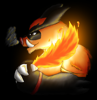 Hougen the Emboar by WigglyWolf