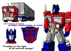 Optimus Prime by AlmightyRayzilla