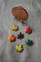 autumn leaf cookies - 1:12 scale miniature by abohemianbazaar