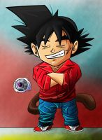 Bardock in casual clothing chibi by Paradise-of-Darkness