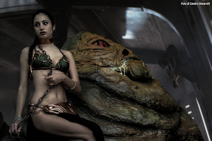 Leia And Jabba 36 by Darthsandr