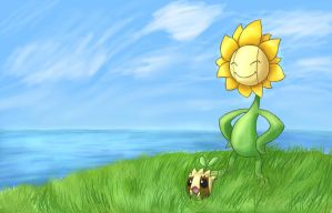Mama Flora and Baby Sunkern