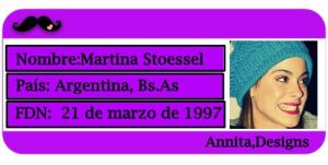 Credencial Martina Stoessel by Annuchi-Editions