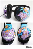 Cheshire Cat Headphones by Bobsmade