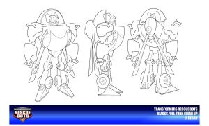 Rescue Bots Blades Clean Up by thegreatjery