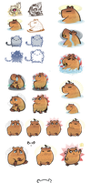 Capybara character tests by Kna